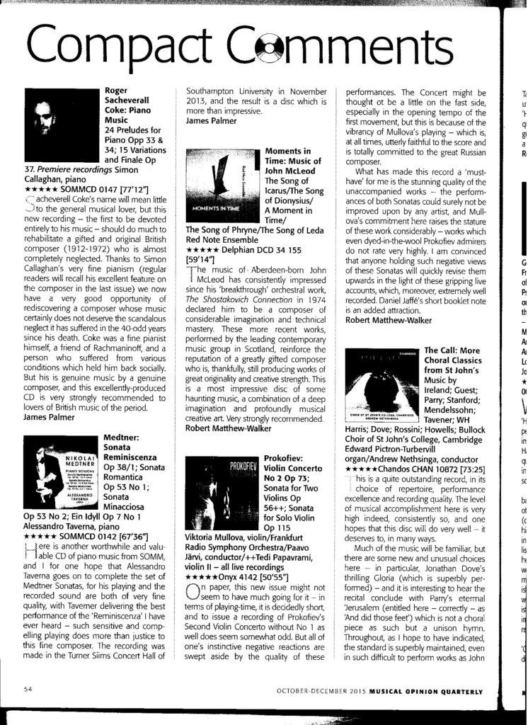Musical Opinion Coke Medtner Oct-Dec15-1